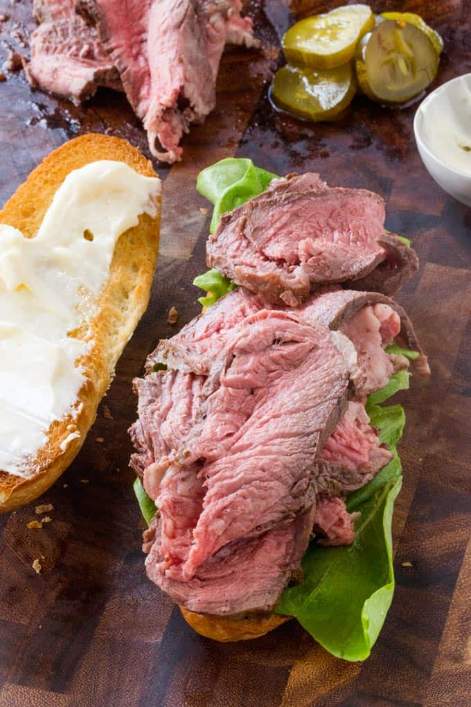 Slow Cooker Roast Beef Sandwiches with Horseradish - Dinner, then Dessert