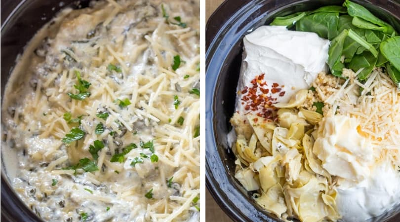 Slow Cooker Spinach Artichoke Dip Easy Dinner Then Dessert