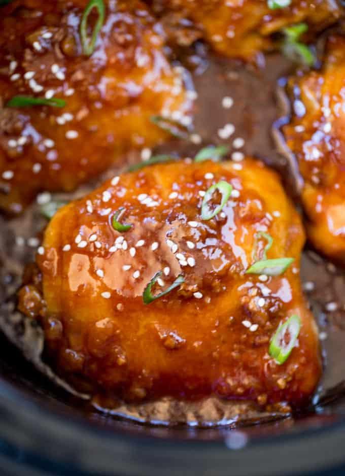 Slow Cooker Teriyaki Chicken Dinner Then Dessert
