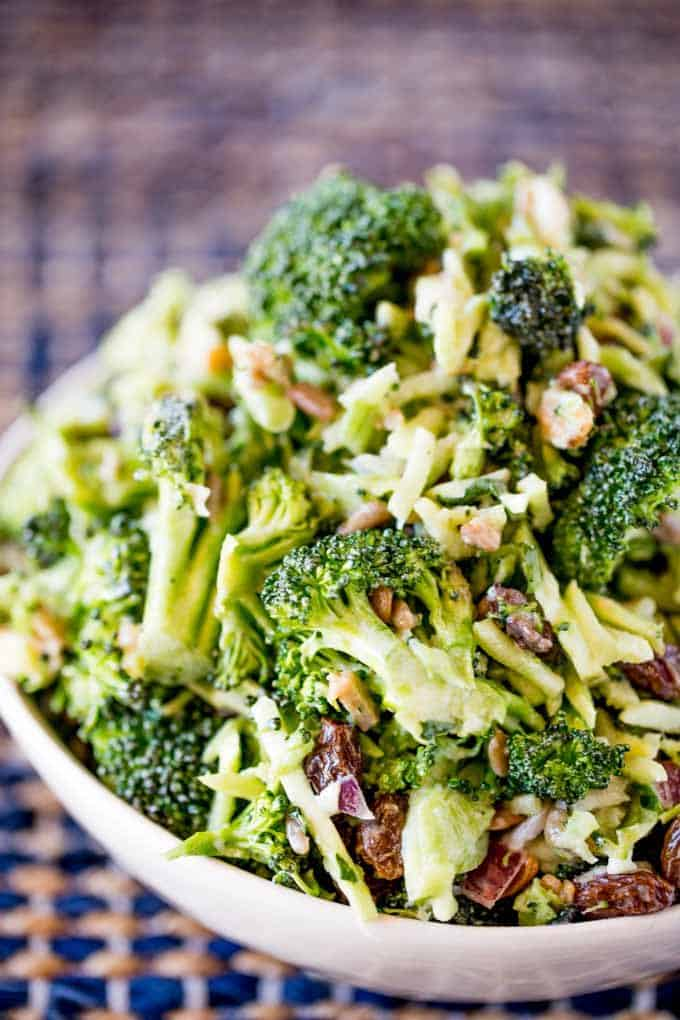 Broccoli Raisin Salad is the perfect summer salad for your barbecues, picnics and summer parties that even your kids will love!