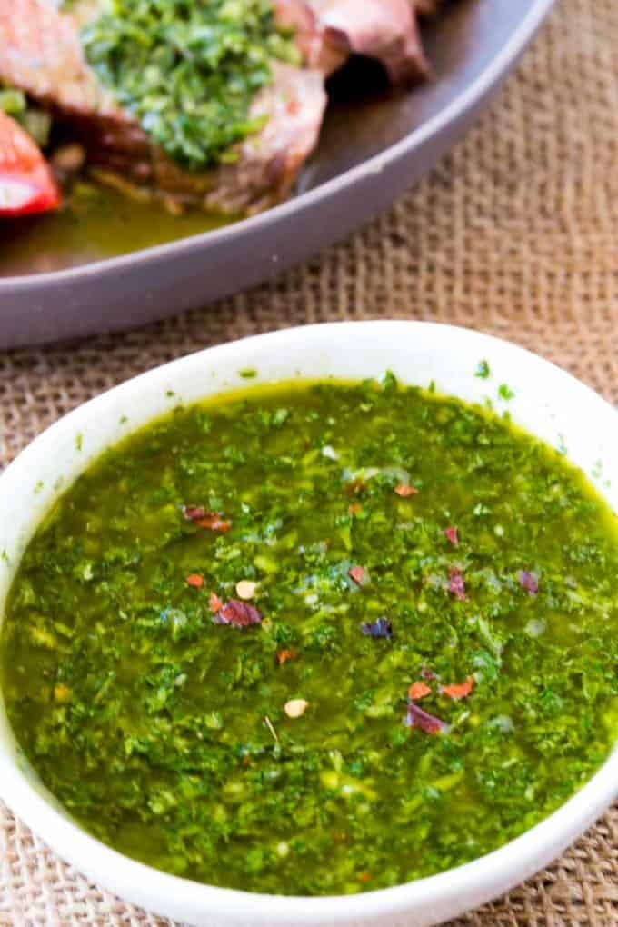 Chimichurri sauce in literally 5 minutes, PERFECT for SUMMER and GRILLING!