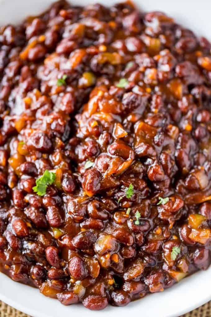El Pollo Loco BBQ Black Beans are the perfect summer side dish!