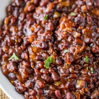 El Pollo Loco BBQ Black Beans are a classic side option that are sweet and a bit of heat from scratch. The cult favorite no longer on the menu!