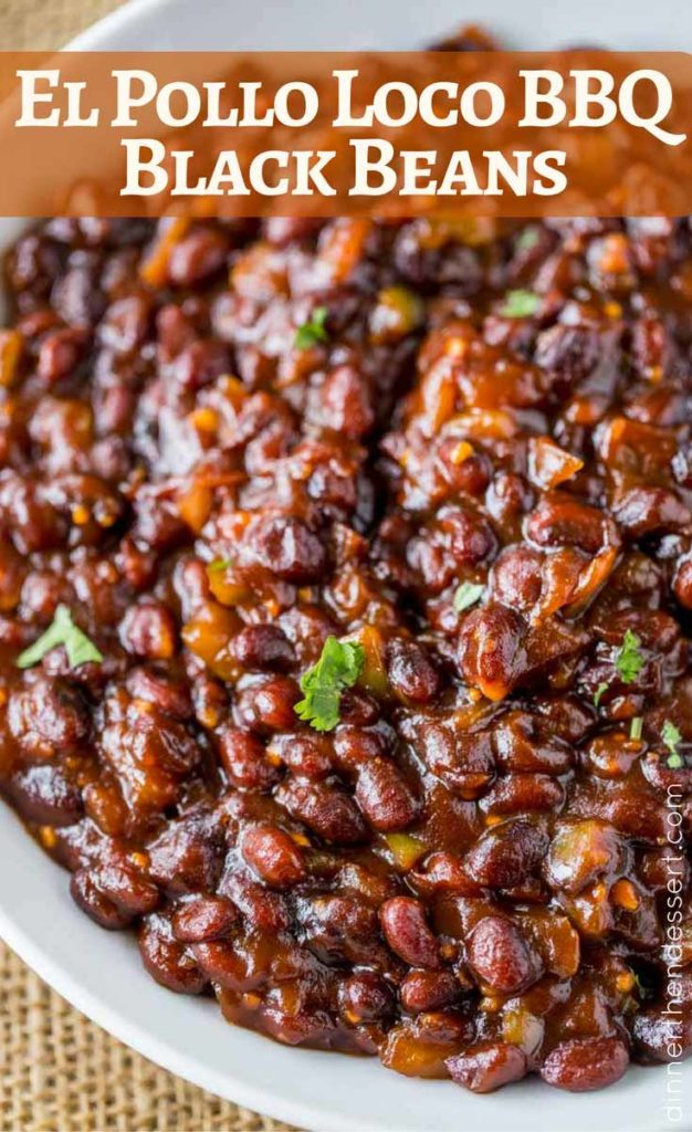 El Pollo Loco BBQ Black Beans are so easy to make and the perfect copycat!