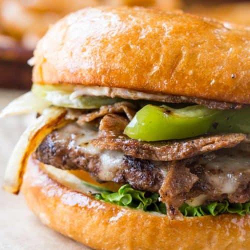 Philly Cheese Steak Burgers Dinner Then Dessert