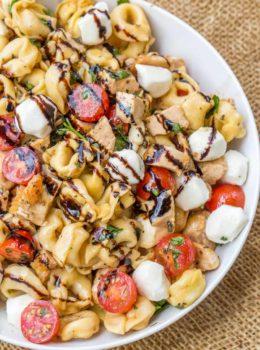 Chicken Caprese Tortellini Pasta Salad