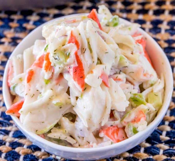 Just ten minutes for this Crab Salad Seafood Salad!