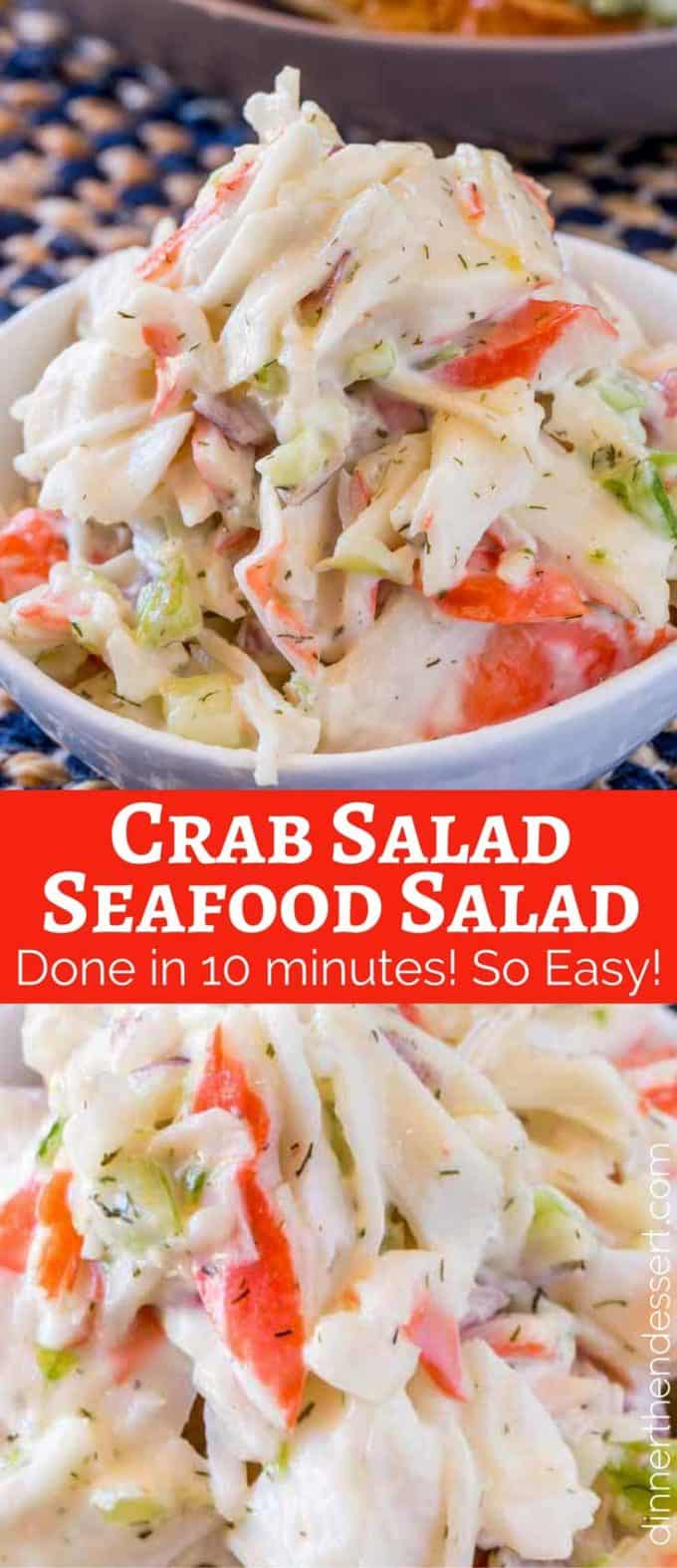 Crab Salad Seafood Salad Dinner Then Dessert