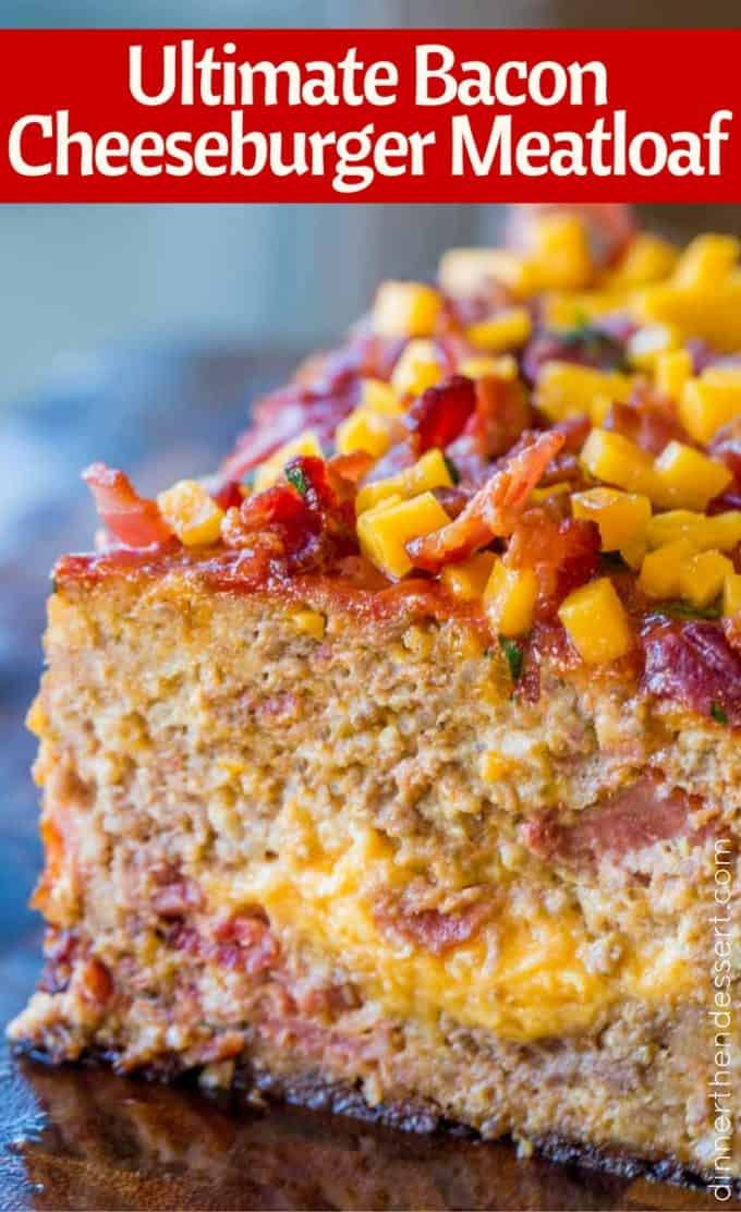 The most amazing, indulgent and still easy Bacon Cheeseburger Meatloaf!