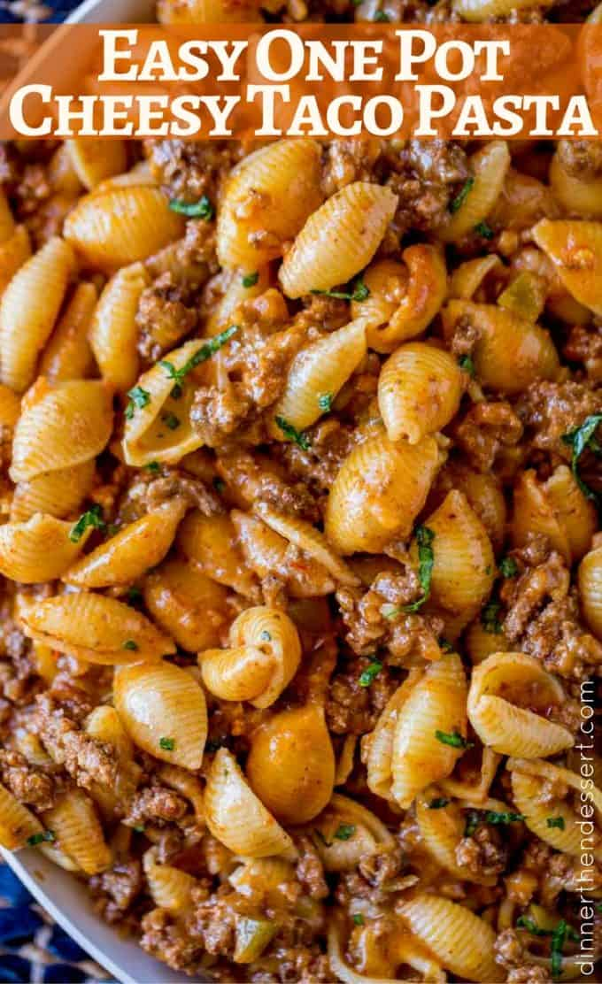 Just 5 Ingredients In This Cheesy Taco Pasta So Delicious