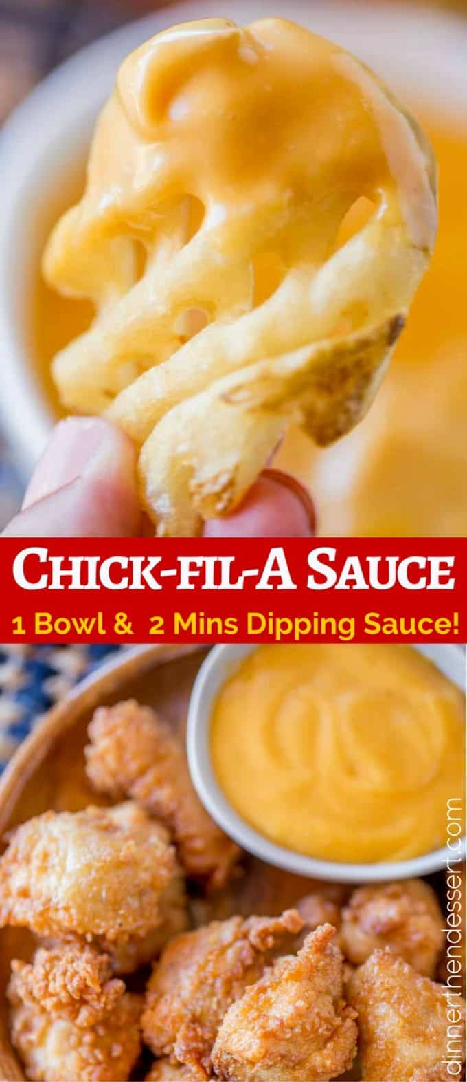 Chick-fil-A Sauce is an easy dipping sauce is slightly smoky with a hint of honey mustard that is perfect for dipping waffle fries, nuggets and more.