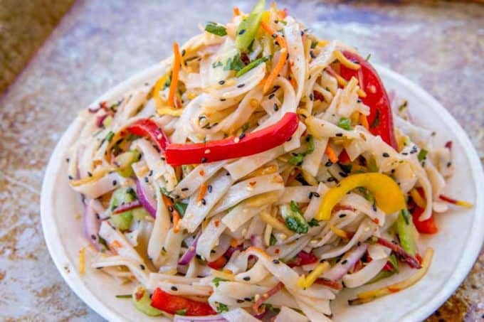 We loved this Thai Noodle Salad, it was a breeze to make!