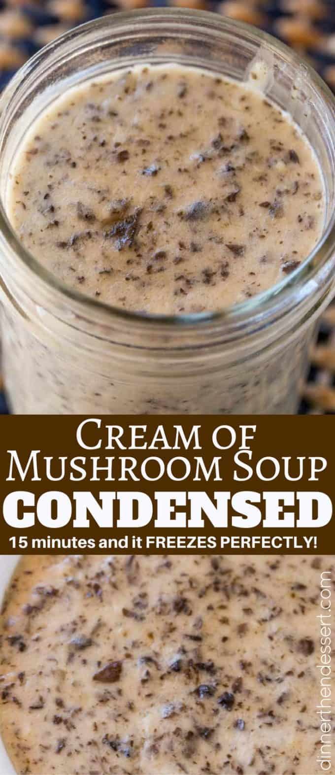 Cream of Mushroom Soup sounds like a basic ingredient in a casserole but making it from scratch is really easy and it freezes great. Perfect for all your condensed soup recipes!