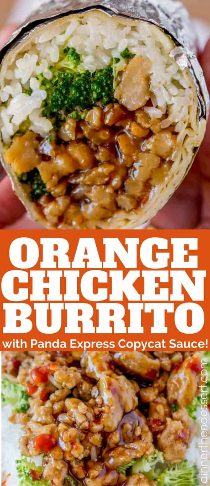 We loved this Orange Chicken Burrito so much we made it twice in one week!