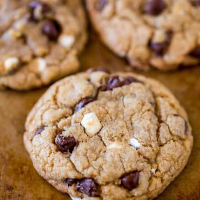 We LOVED these S'mores Cookies with graham cracker crumbs, tiny cereal marshmallows and semisweet chocolate chips!