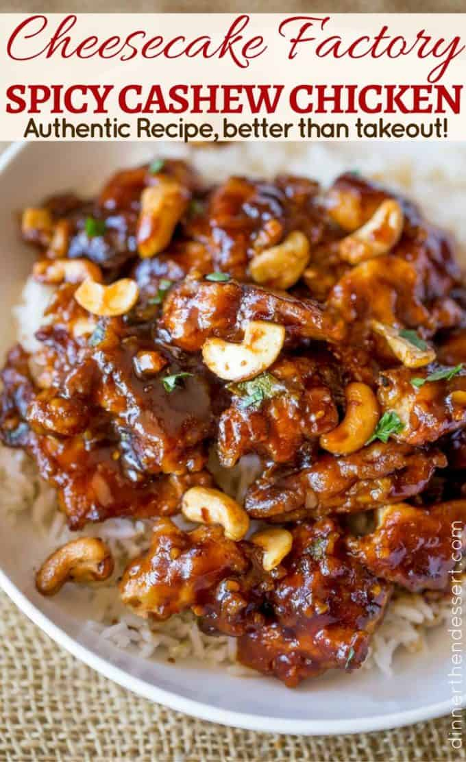 The best copycat of Cheesecake Factory's Spicy Cashew Chicken is perfectly sweet, spicy and crispy!