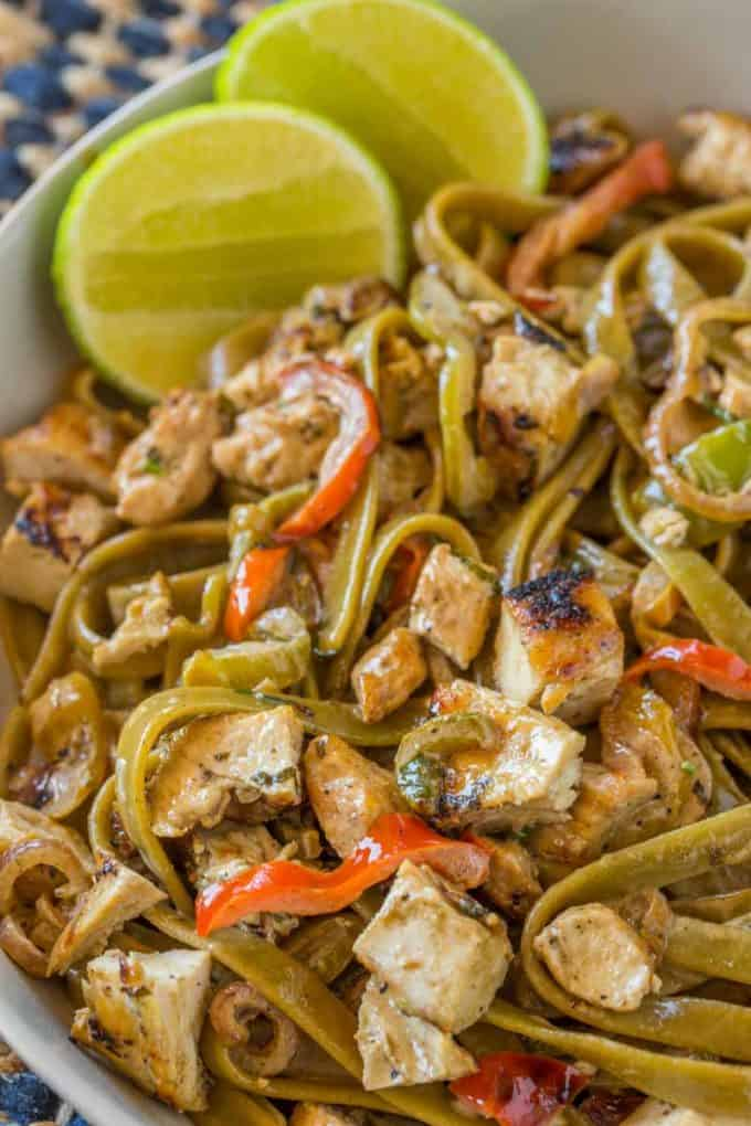 Chicken tequila fettuccine cpk copycat dinner then dessert chicken tequila fettuccine with creamy tequila jalapeo lime sauce pasta bell peppers and red forumfinder Image collections