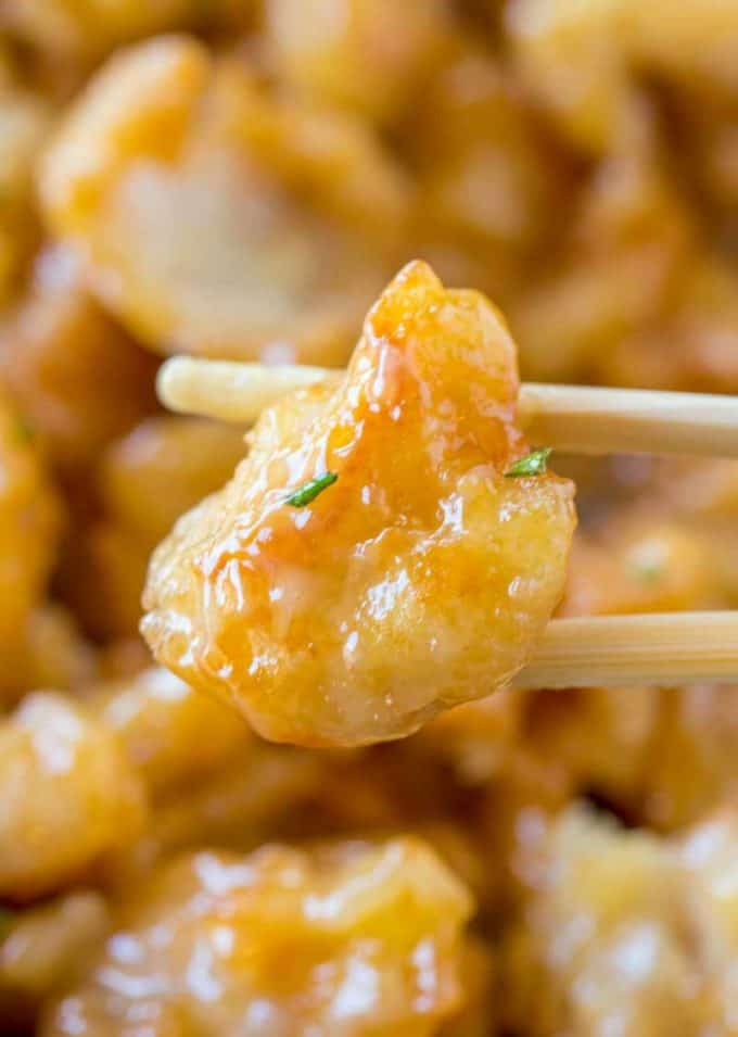 SUPER CRISPY Chinese Honey Chicken just like P.F. Chang's!