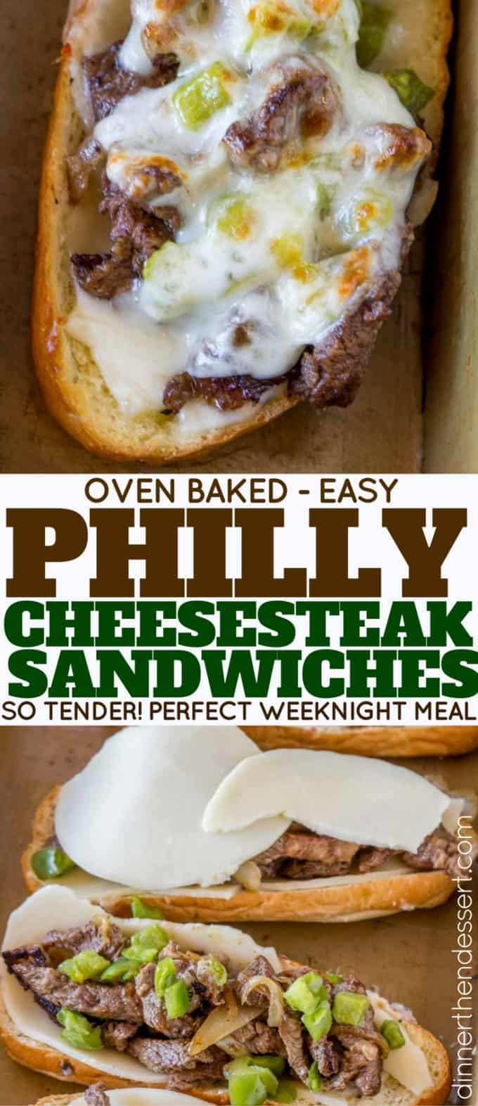 Oven Baked Philly Cheesesteaks are the PERFECT weeknight meal!