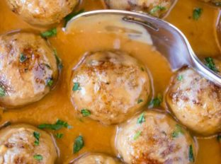 Swedish Meatballs made from easy meatball recipe