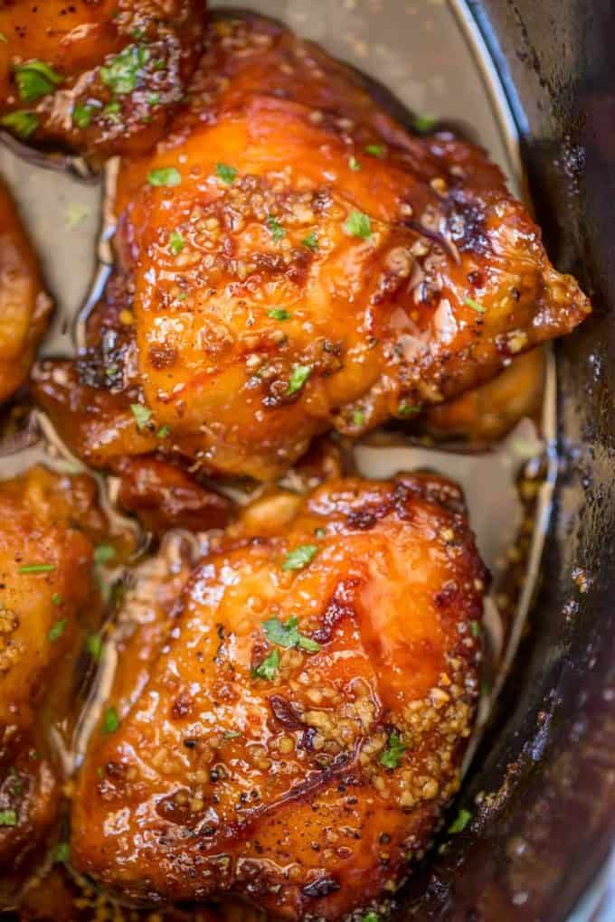 We LOVE this Slow Cooker Brown Sugar Garlic Chicken, we've made it twice this week!