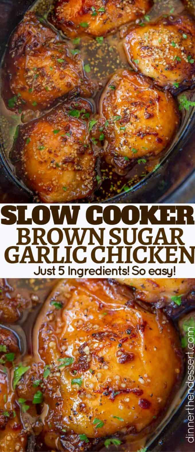 Slow Cooker Brown Sugar Garlic Chicken Made With Just Five Ingredients You Can Set It