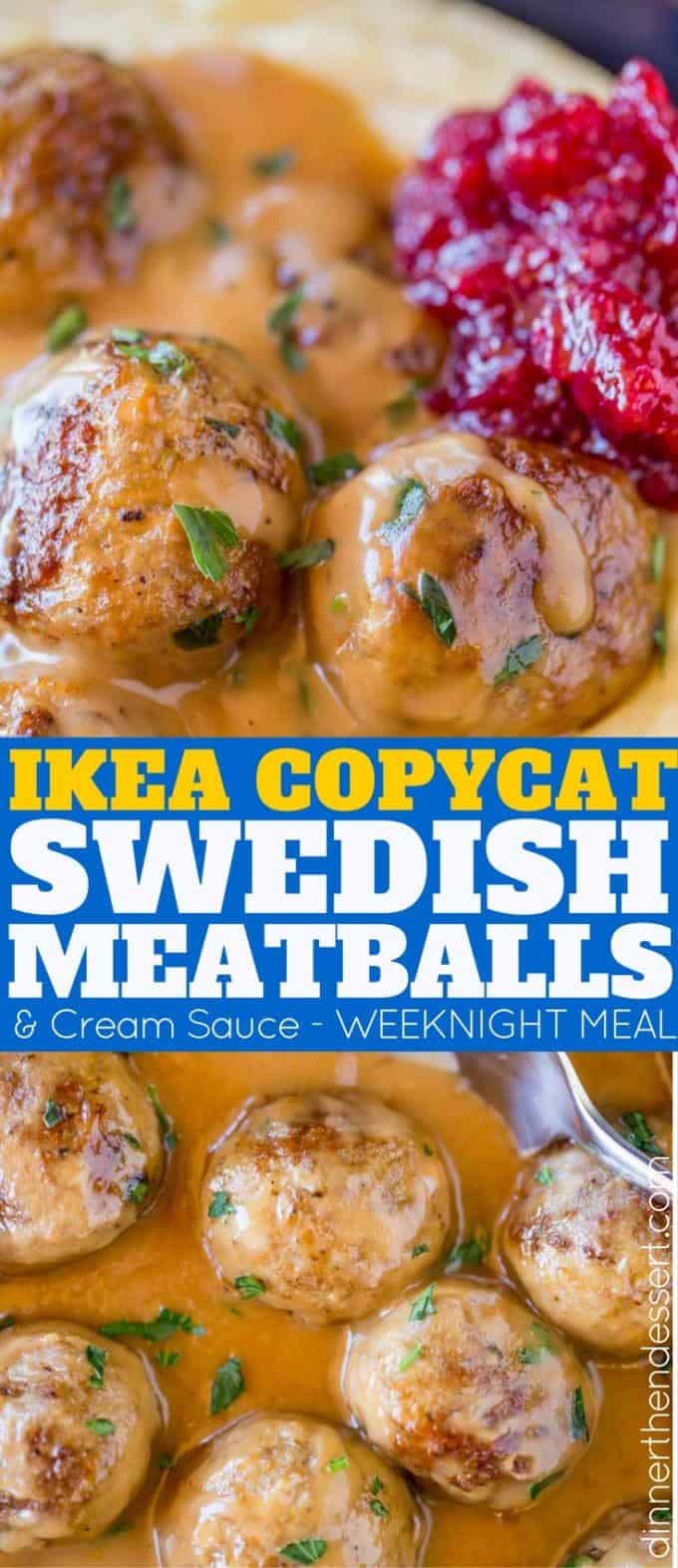 Swedish Meatballs like you'll find in Ikea, but without the trip to the store. Served with the creamy beef gravy, you'll LOVE this easy weeknight meal.
