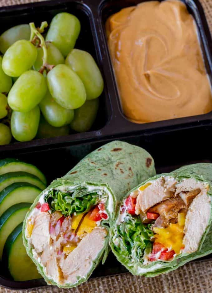 Thai Peanut Chicken Wraps like your favorite Starbucks Protein Box!
