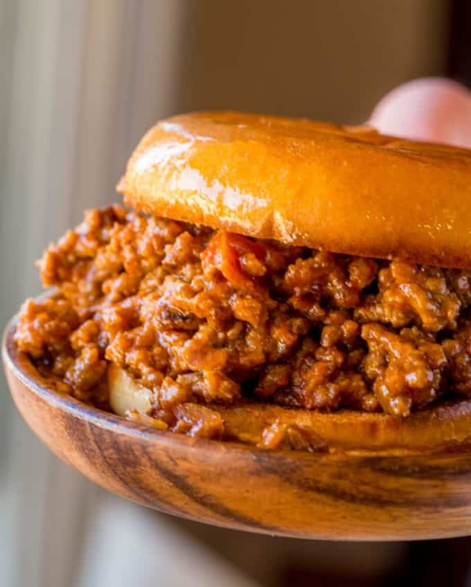 Homemade Sloppy Joes on Hamburger Bun