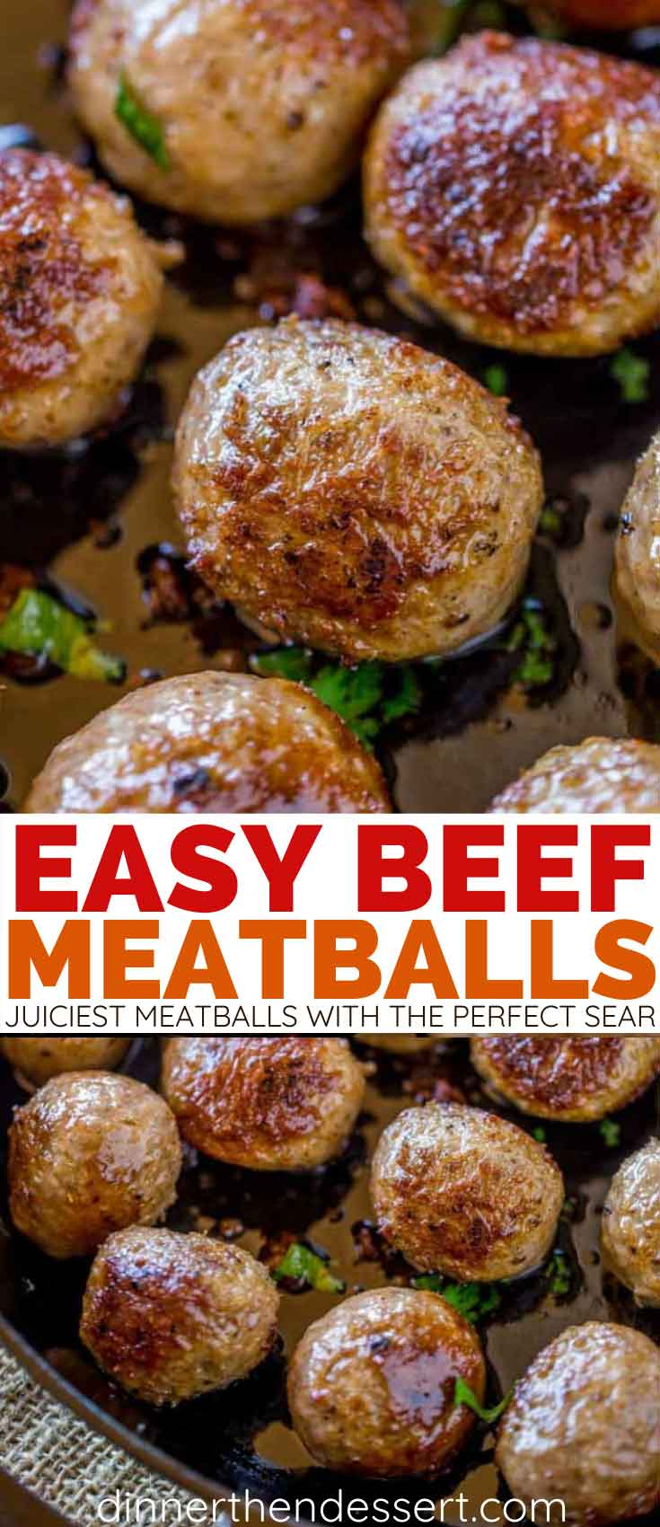 Easy Beef Meatballs collage