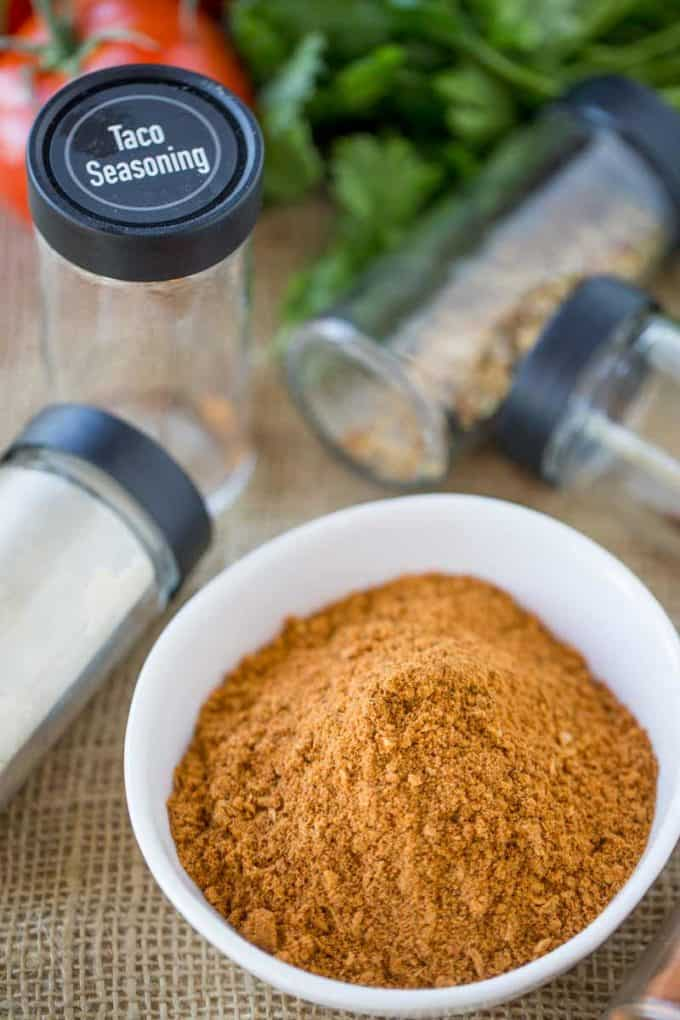 Homemade Taco Seasoning ingredients are fresh an natural