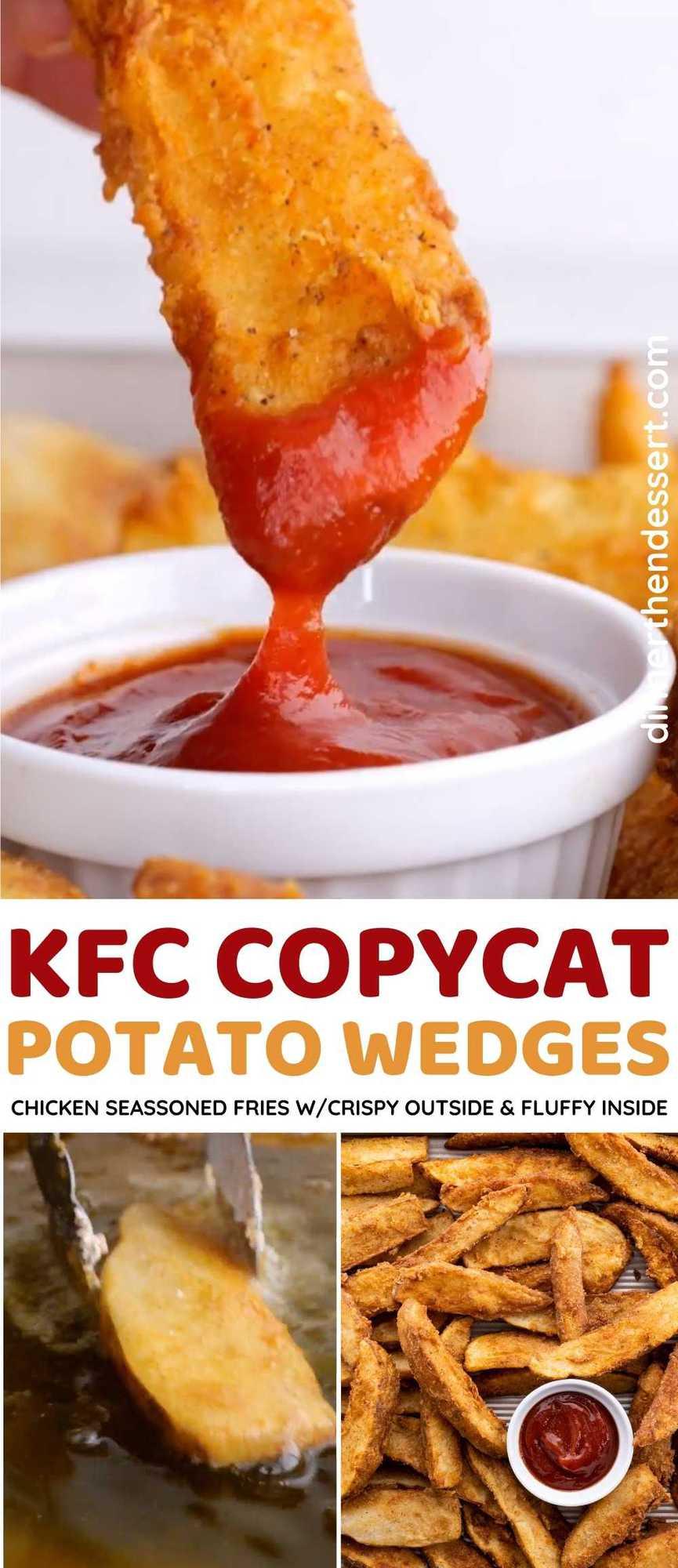 KFC Potato Wedges Copycat Collage