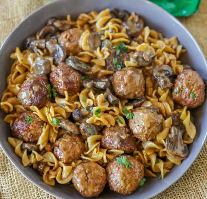 Quick and easy Meatball Stroganoff in just 30 minutes!