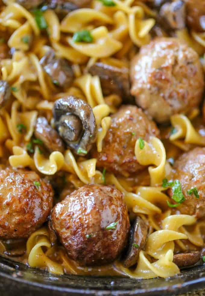 30 minute Meatball Stroganoff is the perfect weeknight meal!