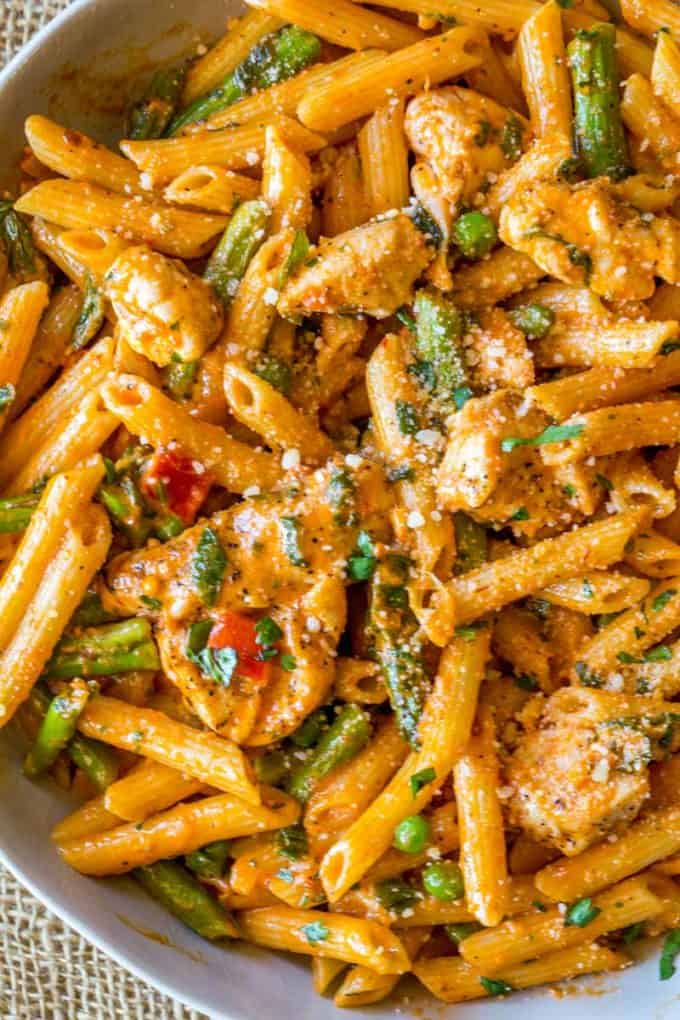 Spicy Chicken Chipotle Pasta Copycat Dinner Then Dessert