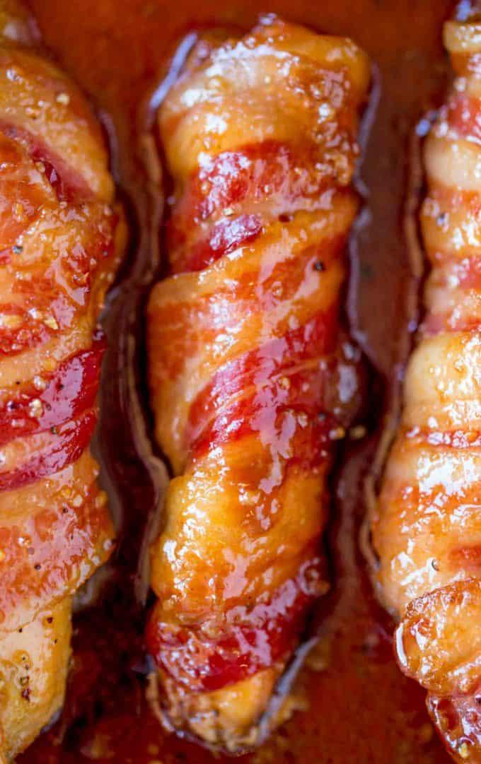 Five ingredients in this Bacon Brown Sugar Chicken Tenders!
