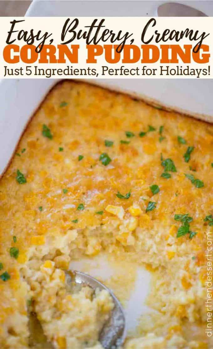 The perfect EASY holiday side dish of corn pudding will leave your guests getting seconds and thirds!