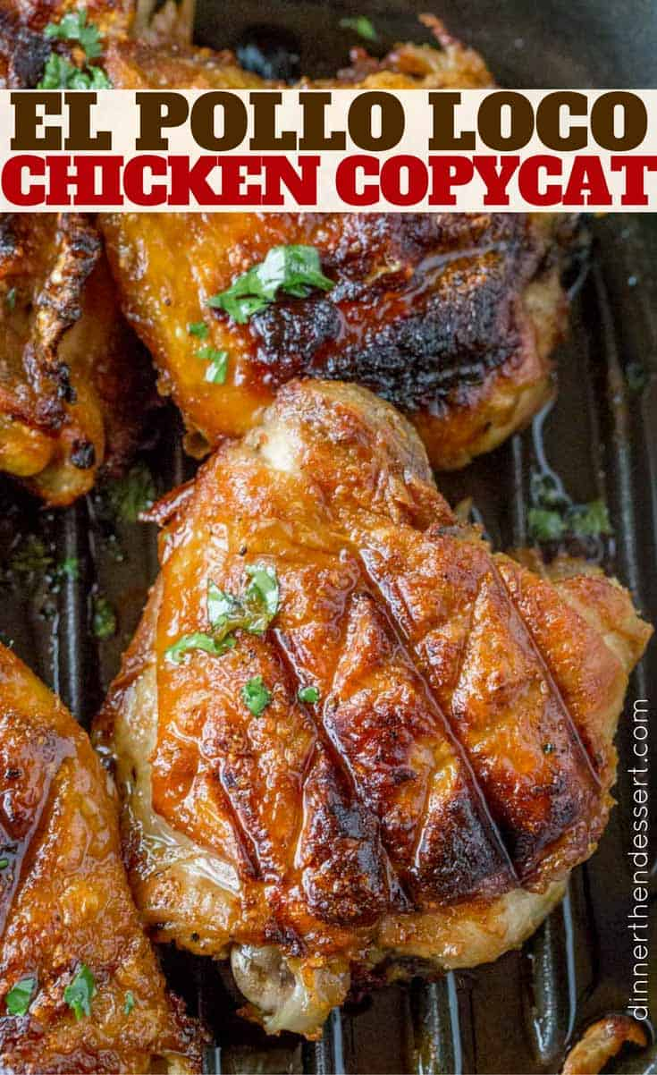 El Pollo Loco Chicken marinated in citrus and pineapple juice overnight for the PERFECT El Pollo Loco copycat recipe!