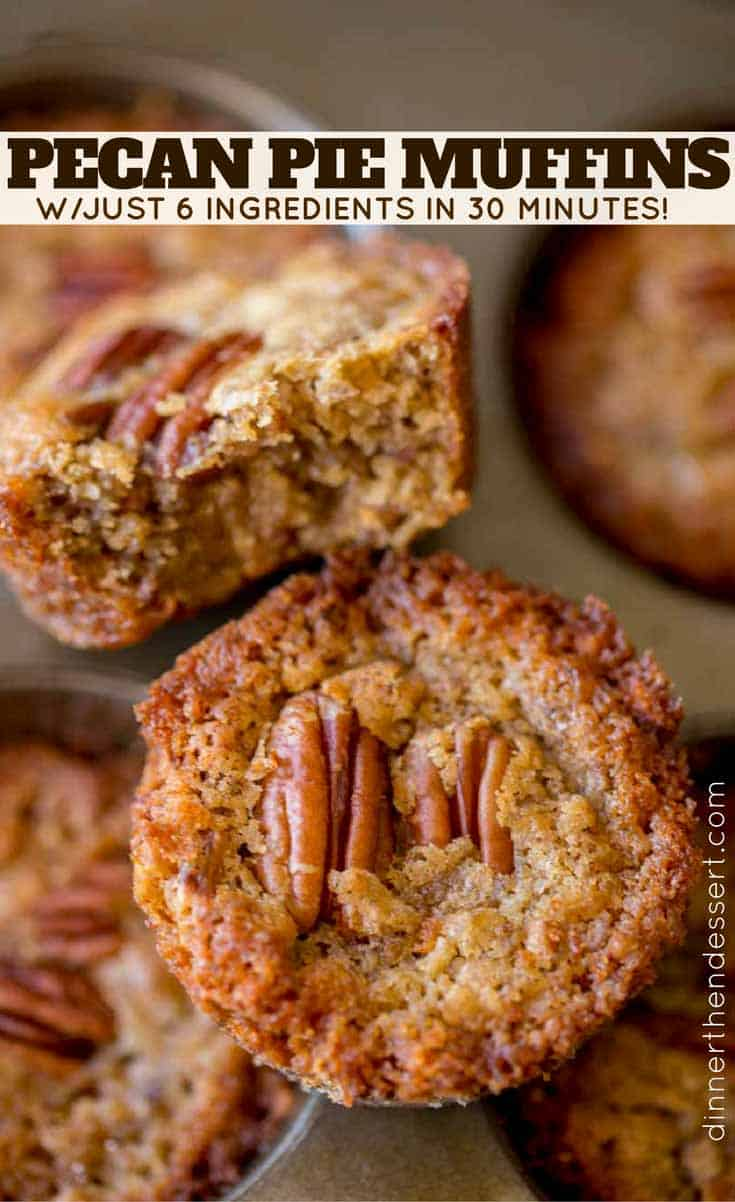 Pecan Pie Muffins with just 6 ingredients and in just 30 minutes!