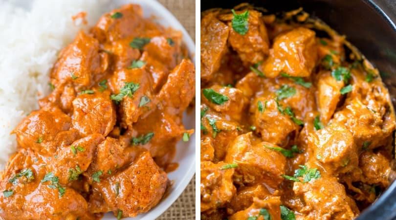 Slow Cooker Indian Butter Chicken Recipe Dinner Then Dessert