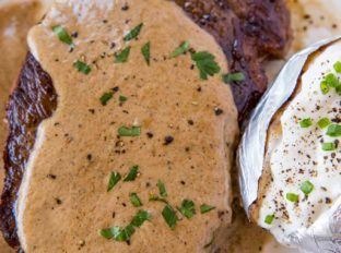 Steak Diane, the classic steakhouse entree made with cream, shallots, mustard and cognac is perfect for your special occasion meals.