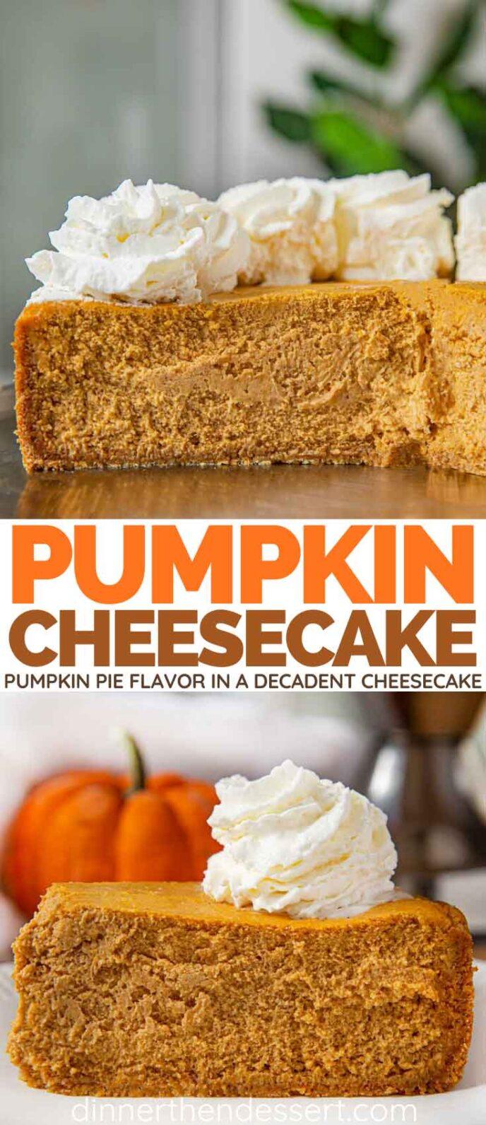 Pumpkin Pie Cheesecake collage