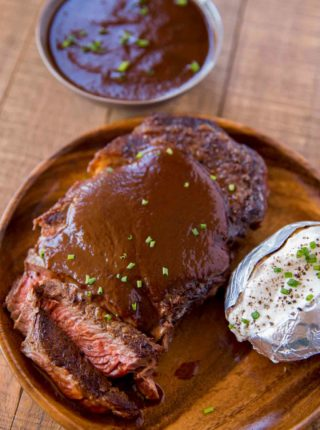 An easy and perfect A1 Steak Sauce Copycat made in just 20 minutes and for so much less money! Made with raisins, Worcestershire sauce and ketchup.