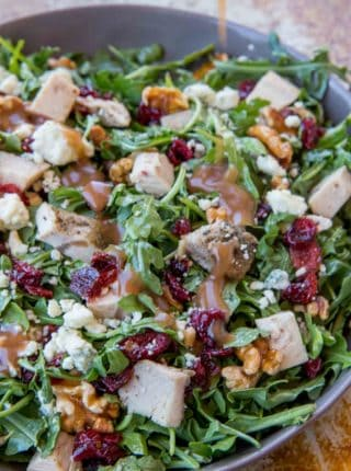A quick and easy lunch, Cranberry Harvest salad is a perfect thanksgiving leftover meal!