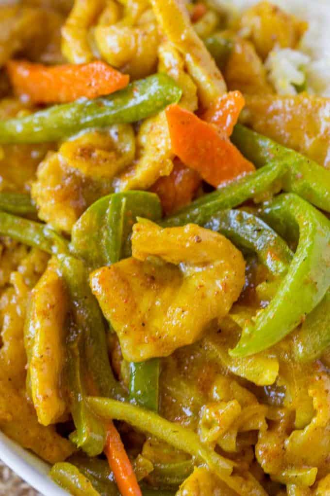 Chinese Curry with Chicken and Vegetables