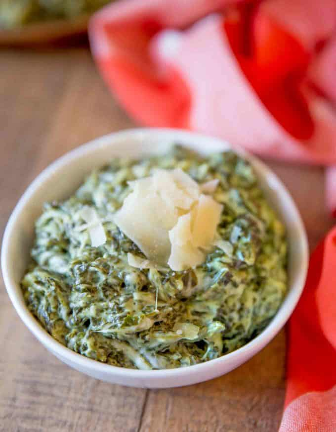 The perfect holiday side dish, creamy, cheesy creamed spinach recipe.