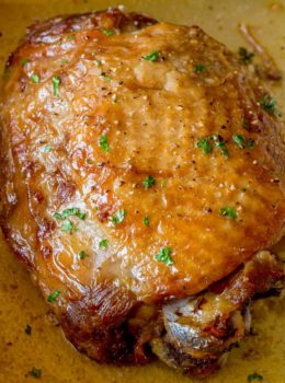 The easiest and most delicious roasted turkey thighs you'll ever eat and with almost no effort!