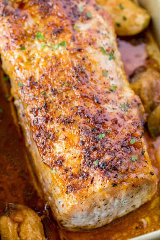 A quick and easy pork loin roast with garlic and spices.