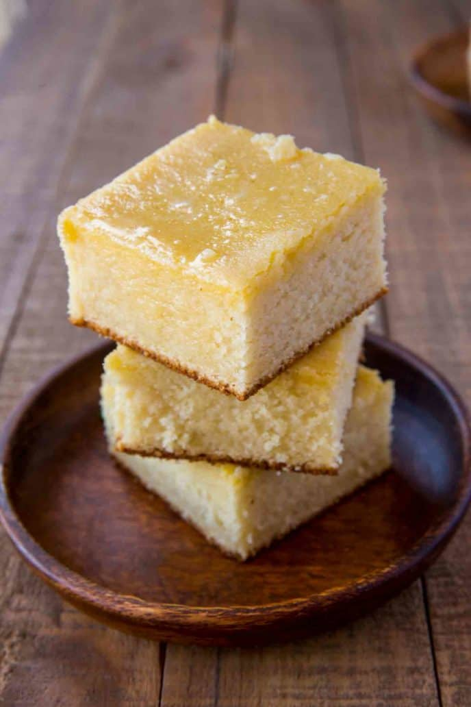 Homemade cornbread made from Southern Cornbread recipe that's not too sweet