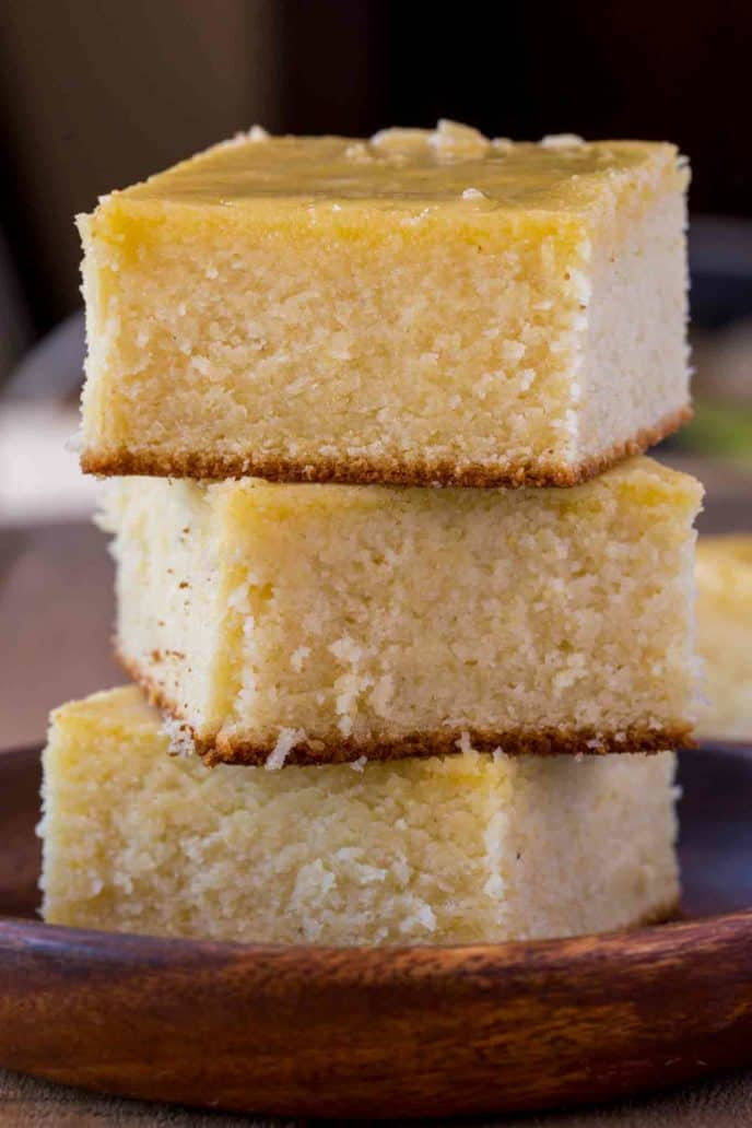 homemade cornbread slices